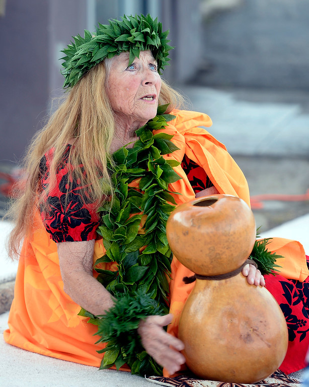 . BOULDER, CO - SEPTEMBER 29:  Miriam Pumehana Paisner  plays and sings traditional Hawaiian music.  A celebration of dance was held at the Bustop to mark the occasion of the closing of the establishment on Saturday in Boulder.(Photo by Cliff Grassmick/Staff Photographer))