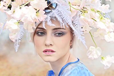 Photographer: Jennifer Ilene Model: Gabija Guzauskaite  Makeup: Suna Sharafi Headpiece: Susan Mcleary of Passionflower