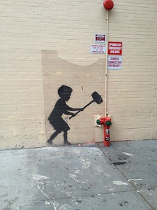 Banksy near Zabar's, NYC
