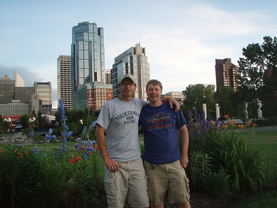 Jon and Mike at a park near downtown Calgary.