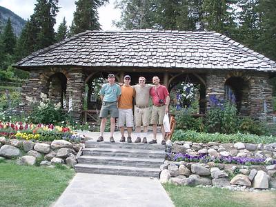 Cascade gardens in Banff.