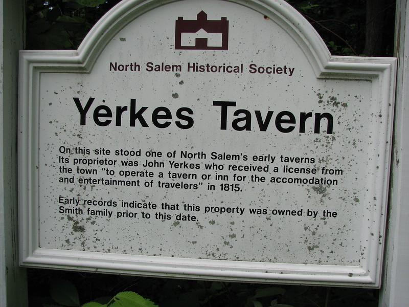 Sign at the roadside, on Bogtown Rd opposite Yerkes Rd.