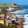 Coastal scene of San Juan, Puerto Rico.