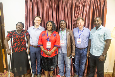 Monrovia, Liberia October 7, 2017 - Jason Carter and Jordan Ryan meet with other election monitoring groups prior to the election.