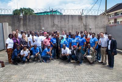 Monrovia, Liberia October 13, 2017 - Carter Center Access to Justice Program meets with Madame Samba-Panza, Jason Carter and TCC leadership team.
