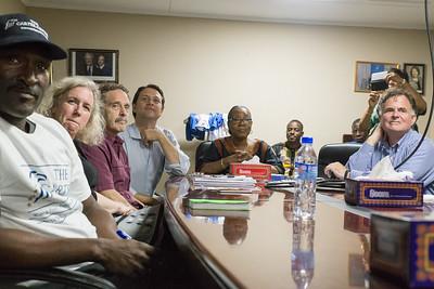 Monrovia, Liberia October 13, 2017 - Carter Center Access to Justice Program members meet with Madame Samba-Panza, Jason Carter and TCC leadership team.