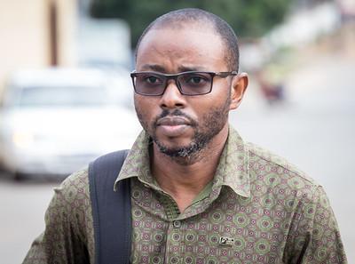 Monrovia, Liberia October 13, 2017 - Parfait Mashali in the field. in the field.
