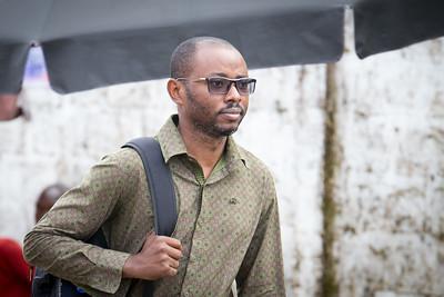 Monrovia, Liberia October 13, 2017 - Parfait Mashali in the field.