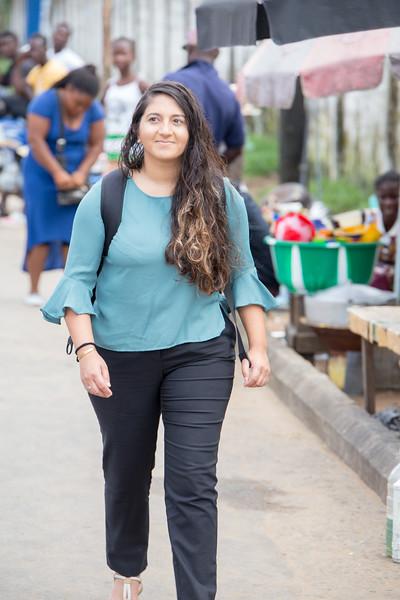 Monrovia, Liberia October 13, 2017 - Aniqa Borachi in the field.