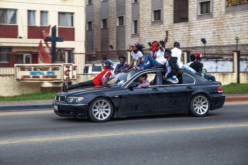 Monrovia, Liberia October 6, 2017 -  Street scene.