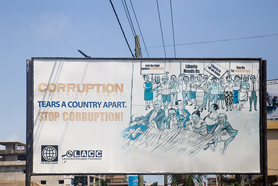 Monrovia, Liberia October 12, 2017 -  Road signs in Monrovia.