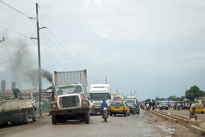 Monrovia, Liberia October 6, 2017 - Traffic in Monrovia.