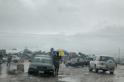 Monrovia, Liberia October 6, 2017 - Roads in the rainy season become challenging.