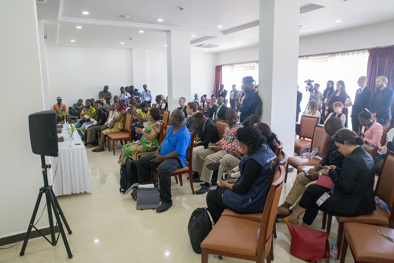 Monrovia, Liberia October 12, 2017 -  The Carter Center leadership team holds a press conference two days after the election.