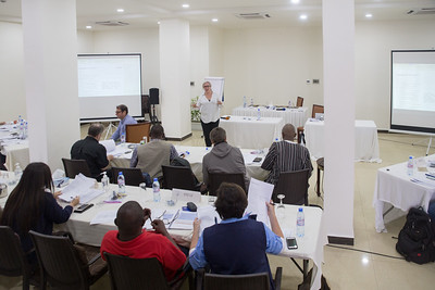 Monrovia, Liberia October 6, 2017 - Short Term Observers receive training prior to the election.
