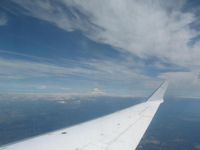 Mount Rainier as I was approaching Seattle.