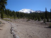 Mount Shasta as we headed up the trail toward Lake Helen to camp for the night.
