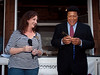 Chubby Checker receives the keys to Grass Valley from Mayor Lisa Swarthout, Sept. 11, 2010 :