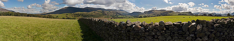 180° Panorama South From Castlerigg To Helvellyn