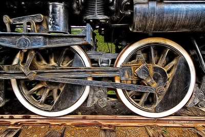 Train Wheels at the Essex Steam Train Museum, Essex CT