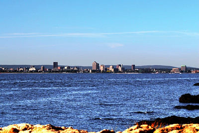 City of New Haven from, Light House Point Park, New Haven CT.
