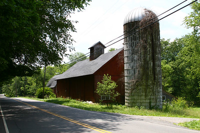 Old Farm and Barn on RTE7 in Kent CT.