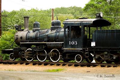 Steam Engine at the Essex Steam Train Museum, Essex CT