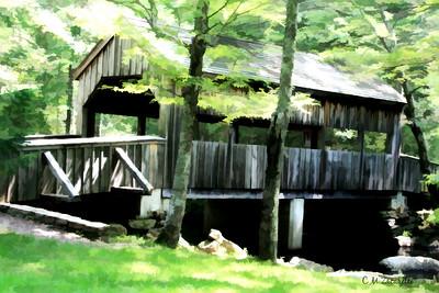 Covered Bridge in Devils Hopyard state park East Lyme CT