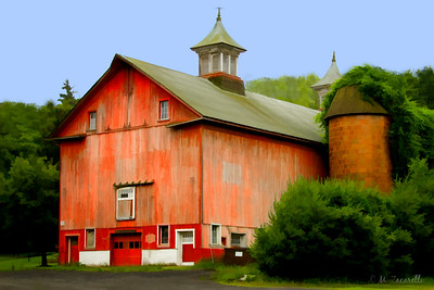 Old barn on RTE 154 in haddam Ct.