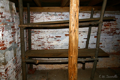 Prisoners Housing after it got too crowded to keep them all in the mines.. Prisoners slept two to a bunk, so this was bedding for four Inmates.. Old New Gate Prison, East Granby CT.