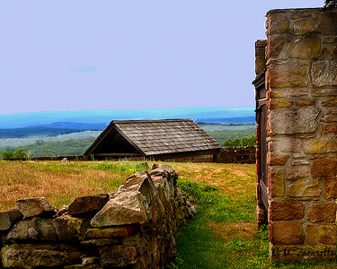 The Grounds of the prison, what a view! Old New Gate Prison and Copper Mine.. East Granby, CT.