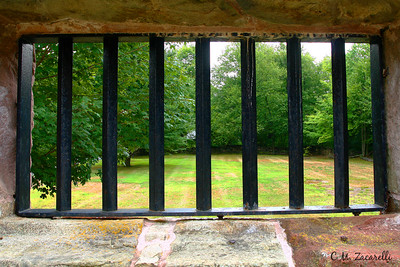 "Scene of Freedom from a Prisoners view. A window in the ""New"" Prison, Old New Gate Prison, East Granby CT."