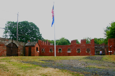 Guard shack and New Prison Building. Old New Gate Prison and Copper Mine.. East Granby, CT.