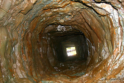 View Up the Well shaft from the mines / prison.. this was the water and air supply for prisoners and Miners alike. Old New Gate Prison and Copper Mine.. East Granby, CT.