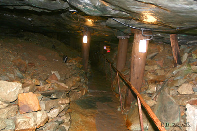 "One of the ""tunnels"" for miners and prisoners to move around in. Old New Gate Prison and Copper Mine.. East Granby, CT."