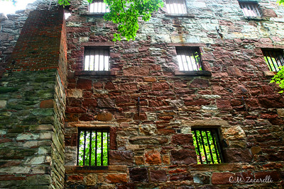 "Back Wall of the ""New"" Prison,Destroyed by Fire set by Inmates. Old New Gate Prison, East Granby CT."