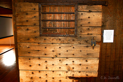 one of the Original doors to new gate from the 1700's. Old New Gate Prison and Copper Mine.. East Granby, CT.