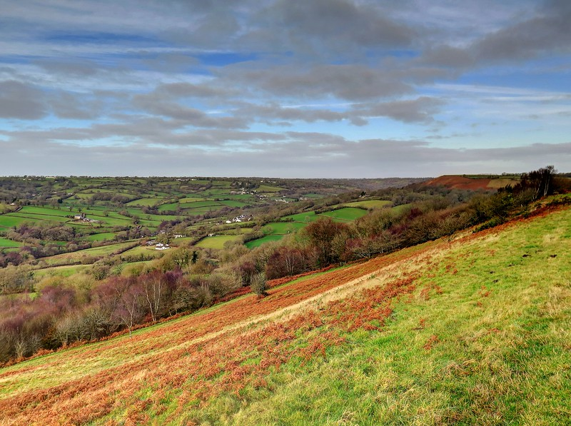 26 Dec 2016 - The view from Dumpdon Hill looking Northwest