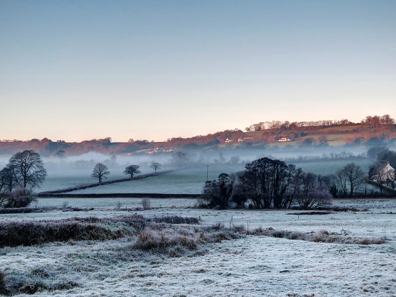 On 29th Dec there was a sharp morning frost and some fog