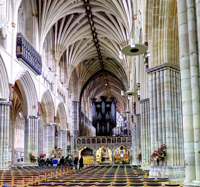 30 Dec 2016 - Exeter Cathedral which has the longest continuous stone vaulted roof in the world at around 93 metres
