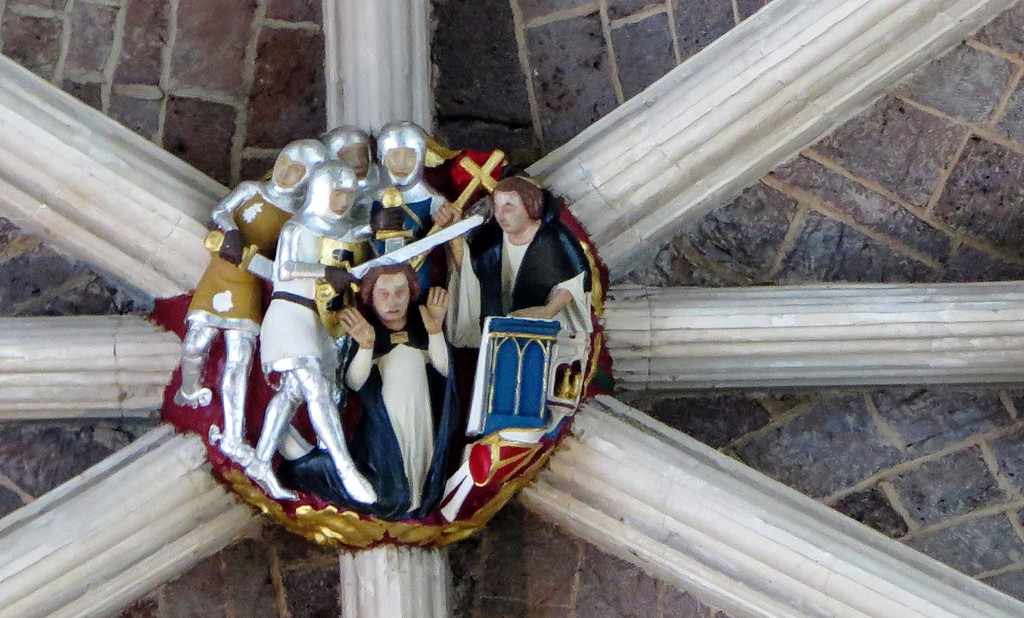 30 Dec 2016 - A roof boss depicting the murder of Thomas A'Becket in Canterbury Cathedral