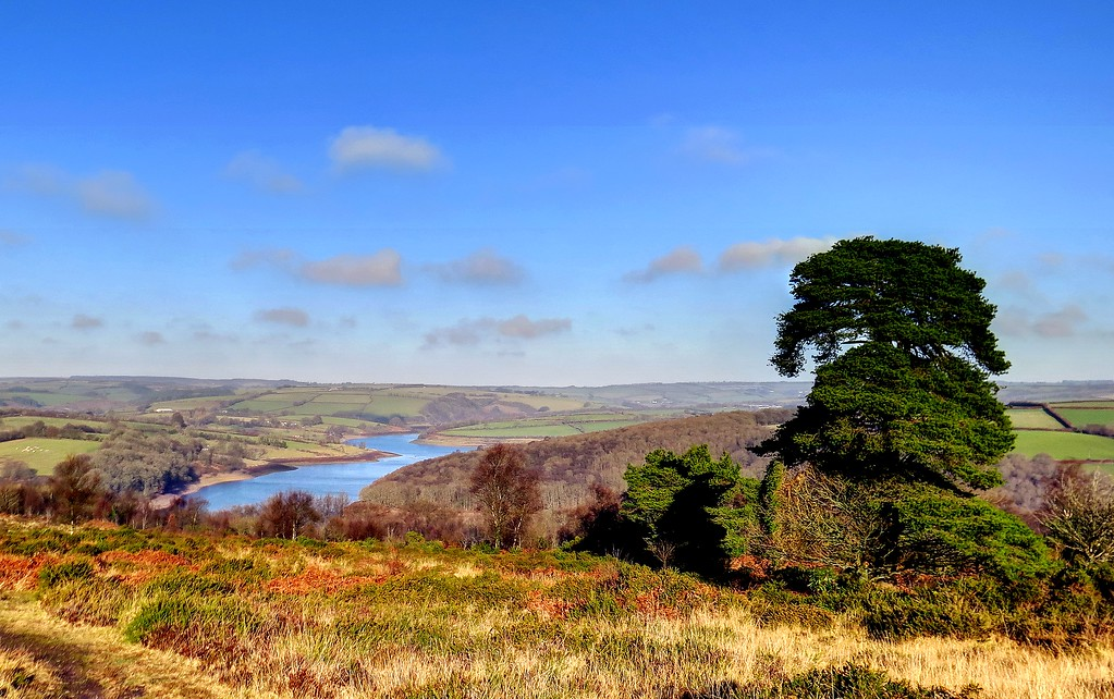 28 Dec 2016 - Haddon Hill, Exmoor -  looking over Wimbleball reservoir