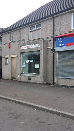 All 4 shops are due to be demolished as soon as the asbestos has been removed.