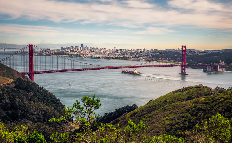 Golden Gate Bridge and Downtown