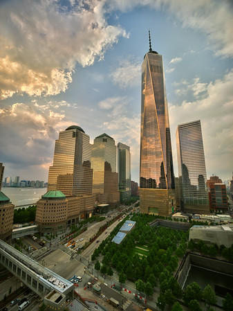 Freedom Tower and 911 Memorial Park