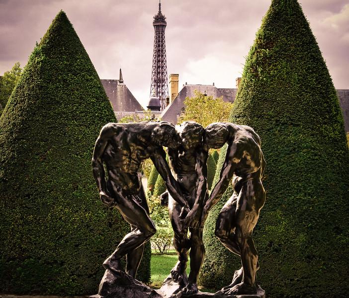 Eiffel tower from the Rodin Museum garden