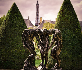 Eiffel tower from the Rodin Museum garden