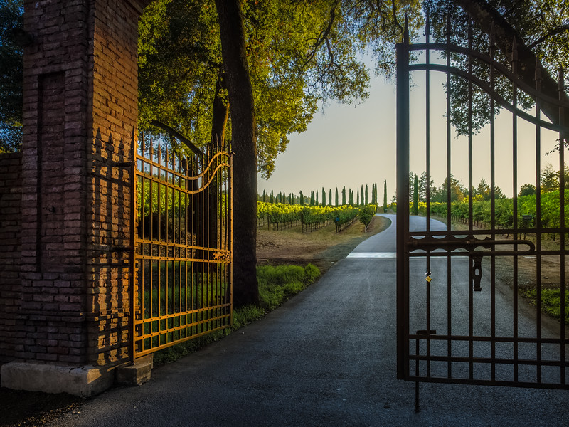 Golden Gates of Castello di Amoroso
