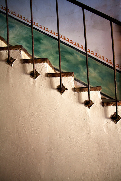 Stairs Detail - Mission Santa Barbara