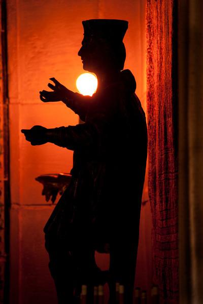 Backlit Statue - Hearst Castle